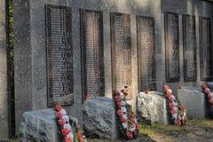 Sovjet begraafplaats Stock Foto