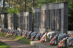 Sovjet begraafplaats Stock Foto's