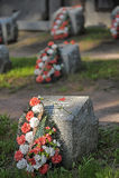 Sovjet begraafplaats royalty-vrije stock afbeeldingen