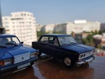 Sovjet diecast bilar Arkivbild