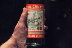 Sovjet en Russische wodka Royalty-vrije Stock Fotografie