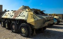 Sovjet gjorde amfibiska den bepansrade bäraren för personaler BTR 60 Latrun Israel Royaltyfria Bilder