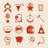 Sovjet icons0 Arkivfoton