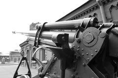 Sovjet luchtafweerkanon van de Tweede Wereldoorlog Royalty-vrije Stock Foto