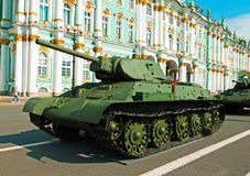 Sovjet middelgrote tank t-34 Royalty-vrije Stock Afbeeldingen