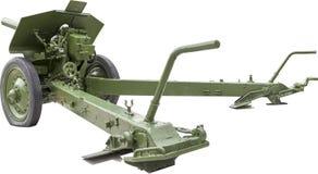 Sovjet 122 mm-houwitser M1938 (m-30) van periodewereldoorlog ii bedelaars Stock Afbeelding