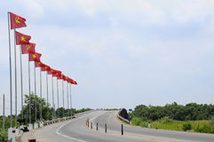 Sovjet- och Vietnam flagga Arkivfoton