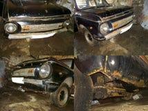 Sovjet oude roestige auto ZAZ968 royalty-vrije stock fotografie