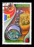 Sovjet-rumän rymdfart, Interkosmos serie, circa 1981 Arkivbilder