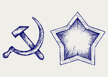 Sovjet sterpictogram Royalty-vrije Stock Afbeelding