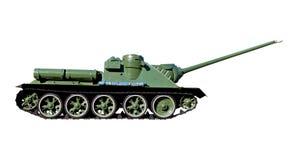 Sovjet tank die op een witte achtergrond wordt geïsoleerd- Royalty-vrije Stock Foto