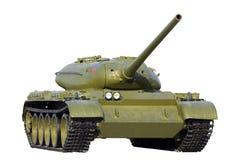 Sovjet tank die over wit wordt geïsoleerdo Stock Afbeelding