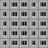 Sovjet van het het huispatroon van het architectuur grijs verenigd paneel de textuurelement royalty-vrije illustratie