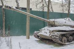 Sovjet zware tank -3 (Voorwerp 703 Jaren van productie 1945-1946 Royalty-vrije Stock Foto
