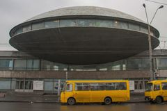 Sovjetarchitectuur in Kiev, de Oekraïne stock foto