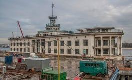 Sovjetarchitectuur in Kiev, de Oekraïne royalty-vrije stock afbeeldingen