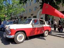 Sovjeteconomie retro auto van jaren '60sedan Moskvitch 407 (Scaldia) stock foto's
