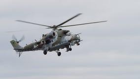 Sovjetera mi-24 Achterste helikopter Royalty-vrije Stock Foto's