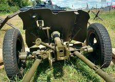 Sovjetisk anti--behållare 45 millimeter vapen av det andra världskriget Arkivbild