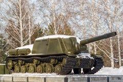 Sovjetisk behållare en monument royaltyfria foton
