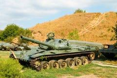 Sovjetisk behållare för huvudsaklig strid T-72 Arkivfoto
