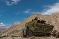 Sovjetisk behållare i Afghanistan Arkivbild