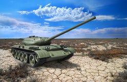 Sovjetisk behållare T-54 av 1946 år Royaltyfri Fotografi