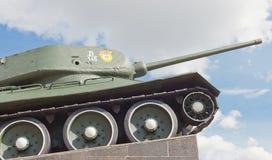 Sovjetisk behållare T-34 i Minsk Arkivbild