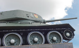 Sovjetisk behållare T-34 i Minsk Arkivfoton