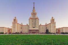 Sovjetisk byggnad för arkitektur MSU i Moskva royaltyfri bild