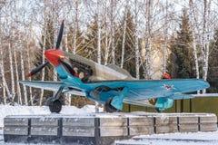 Sovjetisk flygplankämpe-bombplan arkivbilder