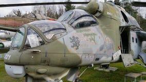 Sovjetisk helikopter MI-24 Arkivbild