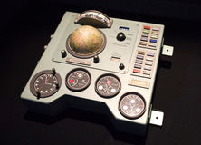 Sovjetisk instrumentbräda från rymdskeppet Vostok Arkivbilder