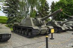 Sovjetisk jagare för behållare ISU-152 Arkivfoto