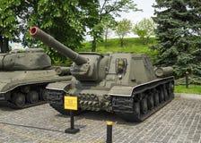 Sovjetisk jagare för behållare ISU-152 Royaltyfri Fotografi