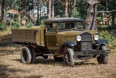 Sovjetisk lastbil GAZ Fotografering för Bildbyråer