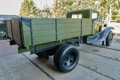 Sovjetisk lastbil GAZ-AA av tider för världskrig II Royaltyfri Fotografi