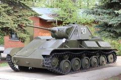 Sovjetisk ljus behållare T-70 för världskrig II royaltyfri foto