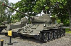 Sovjetisk medelbehållare T-34-85 Arkivbilder