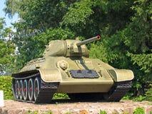 Sovjetisk militär behållare T-34 Royaltyfri Fotografi