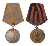 Sovjetisk militär medalj royaltyfri foto