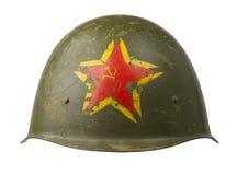 Sovjetisk militär hjälm Arkivbilder