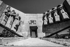 Sovjetisk monument i bulgarisk stad av Varna Arkivfoto