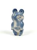 Sovjetisk olympic björnstatyett Arkivbild