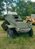 Sovjetisk pansarbil BA-64 av det andra världskriget Royaltyfri Fotografi