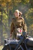sovjetisk tid ww2 för flickasoldat Royaltyfria Foton