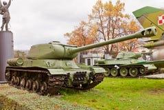 Sovjetisk tung behållare IS-2 (Joseph Stalin) Royaltyfria Foton