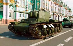 Sovjetisk tung behållare KV-1 Klim Voroshilov Arkivfoto