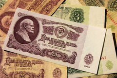 Sovjetiska pengar Arkivbilder