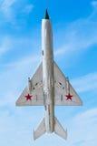 Sovjetiskt militärt flygplan Royaltyfri Bild